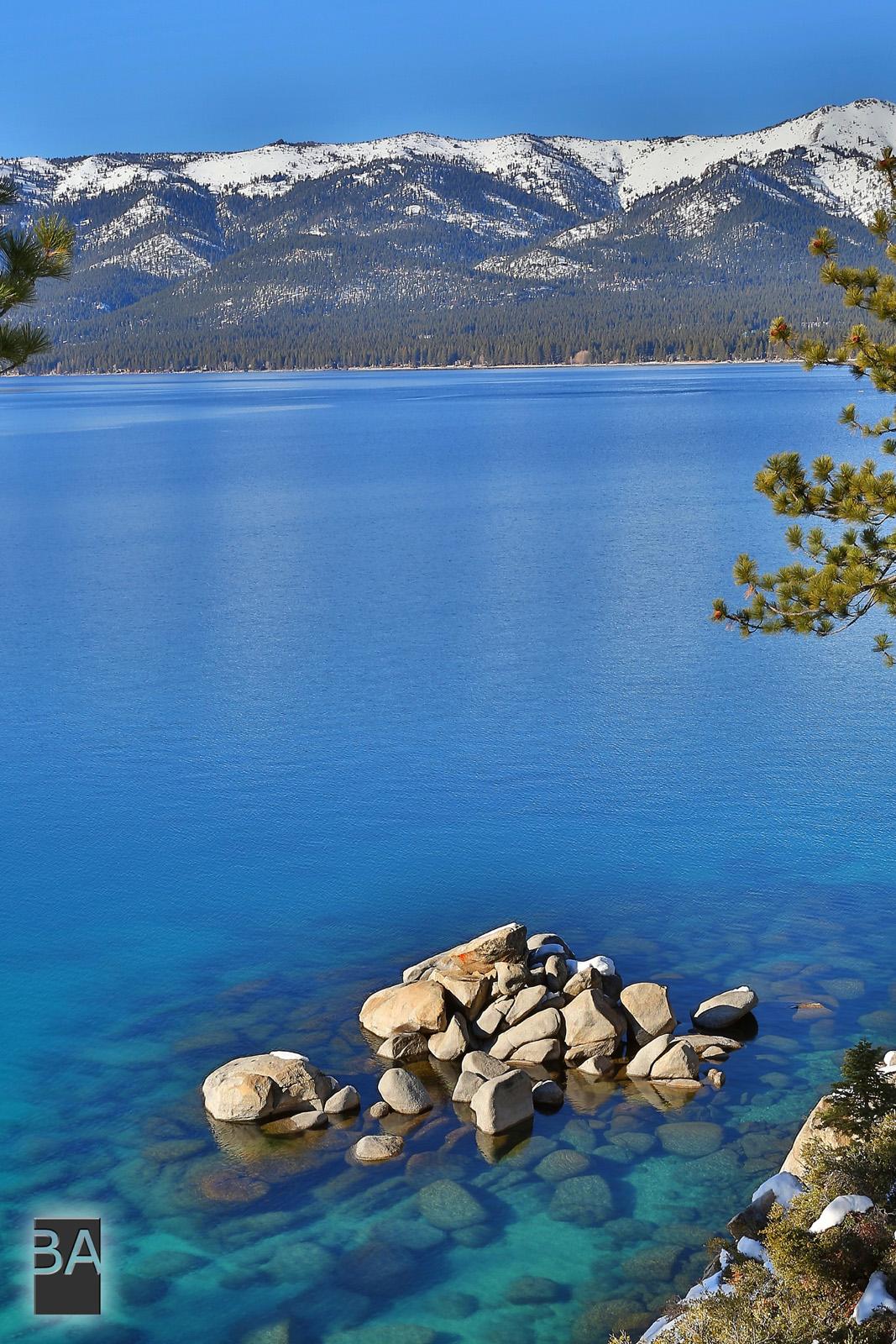 Lake Tahoe Winter Wallpaper Desktop Background: Lake Tahoe Winter Sunset