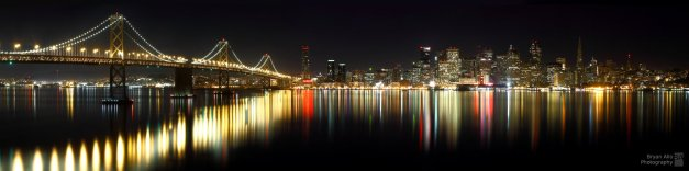 San Francisco over calm waters