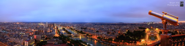 Paris Sunset Panoramic - 18 x 72 inches