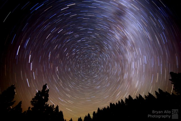 Star Trails along the northern coast of California