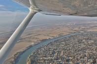 Taking off from Sacramento Executive Airport