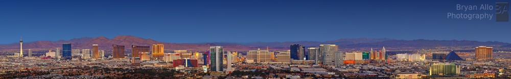 Las Vegas Sunset Aerial Panoramic