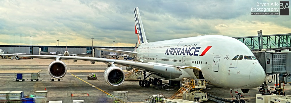 Airbus A380 at Charles de Gaulle Airport, Paris
