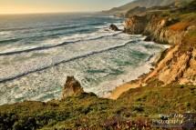 Big Sur coast at Sunset