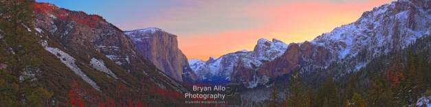 Yosemite Valley, Sunrise via Tunnel View
