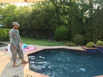 The Sarge getting ready to take the plunge